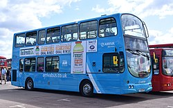 Arriva new corporate livery - worn by VDL DB250 Wright Pulsar Gemini 4772 (35913809393).jpg