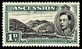 Ascension 1938 1p green Green Mountain stamp.jpg