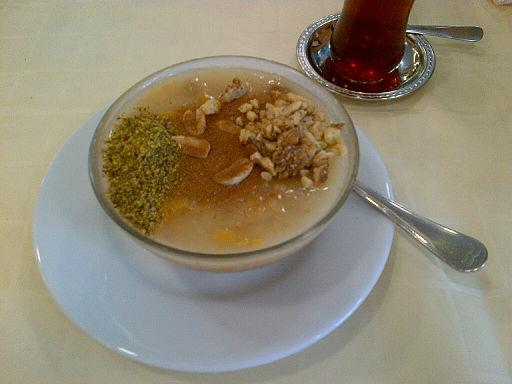 Ashure and Turkish tea