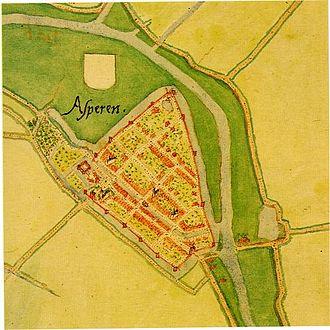 Jacob van Deventer (cartographer) - Image: Asperen 1560