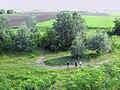 At the top of hillfort Vaskapu in Horgos, Serbia.jpg