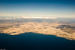 Panoramica di Atene e della sua area urbana