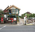 Attleborough railway station - signal box and goods shed - geograph.org.uk - 1408062.jpg