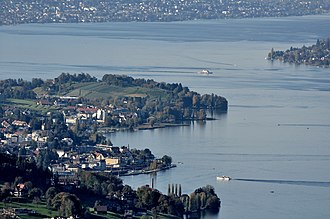 Wädenswil–Vorder Au - The site of the prehistoric settlement at the Au peninsula respective the locality Au, Switzerland