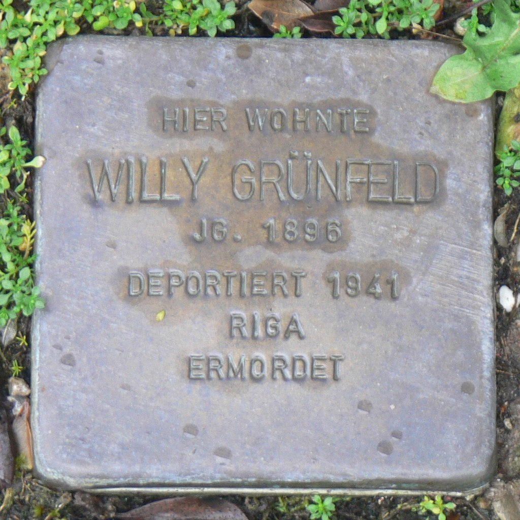 Aub - Stolperstein Grünfeld, Willy.jpg