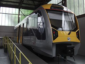 New Zealand AM class electric multiple unit - Exterior of mockup, MOTAT.