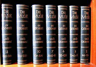 <i>Die Musik in Geschichte und Gegenwart</i> Largest and most comprehensive German music encyclopedia