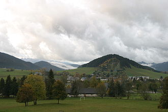 Autrans - The Ski-jumps seen from afar.