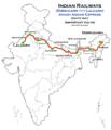 Avadh Assam Express (Dibrugarh - Lalgarh) route map.png