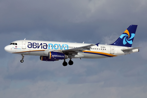 Avianova (Russia) - An Avianova Airbus A320-200 at Pulkovo Airport. (2011)