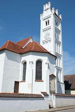 Kirche St. Martin in Aystetten im Landkreis Augsburg (Bayern Deutschland)