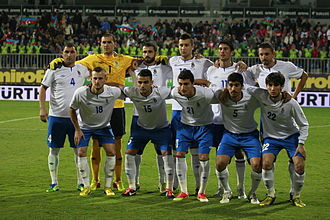 Azerbaijan national football team - Azerbaijan national football team in October 2013.