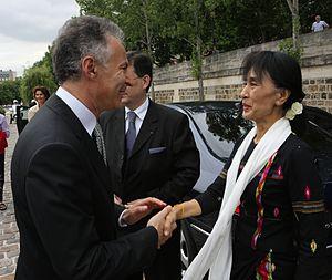 François Zimeray - François Zimeray and Aung San Suu Kyi - Paris - 2012