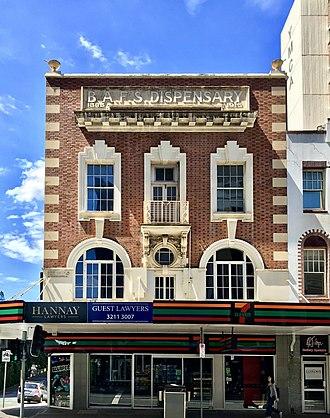BAFS Building - BAFS Building, George Street facade, 2018