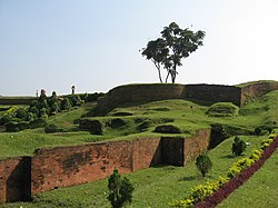 Ramparts of Mahasthangarh citadel in Bogra