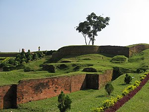 Mahasthangarh - Ramparts of the Mahasthangarh citadel