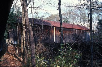 National Register of Historic Places listings in Sullivan County, New Hampshire - Image: BLOW ME DOWN COVERED BRIDGE