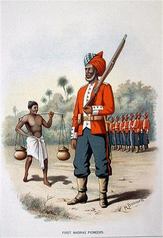 Madras Army - The 1st Madras Pioneers, c. 1890