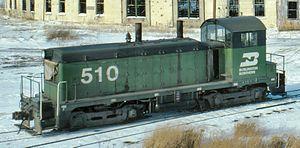 Burlington Northern Railroad - NW2 510 at Aurora, Illinois