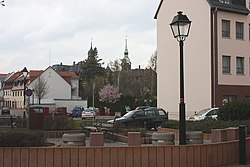 Bad Lausick, view to the town church and to the town hall.jpg