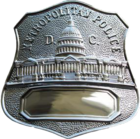 Badge of the Metropolitan Police Department (badge number removed)
