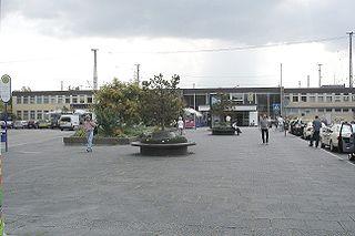 Hanau Hauptbahnhof railway station in Hanau, Germany