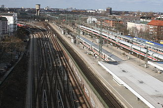 Hamburg-Altona station - Present-day platforms and tracks