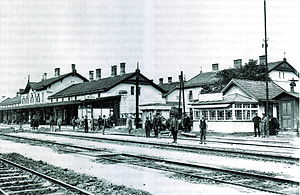 Salzburg-Tyrol Railway - Wörgl Station, about 1900