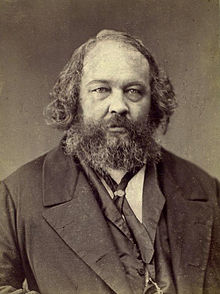 Portrait of Mikhail Bakunin who clashed with Karl Marx at the Hague Congress of 1872 resulting in a schism in the First International.
