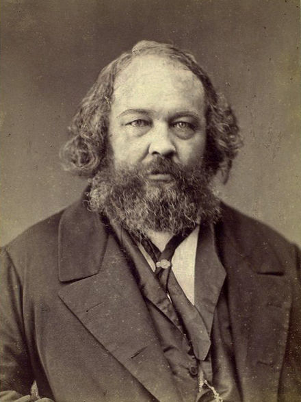 Mikhail Bakunin was a revolutionary anarchist and founder of collectivist anarchism. Bakunin Nadar.jpg