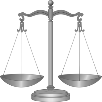Balance scales in equal balance are the symbol of Pyrrhonism Balance scales drawing.png