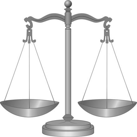 Balance scales in equal balance are the symbol of Pyrrhonism