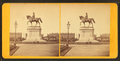 Ball's statue of Ge. Washington, Public Gardens (side view), from Robert N. Dennis collection of stereoscopic views.png