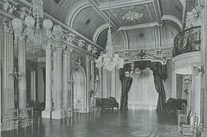 Martha Allan - The ballroom at Ravenscrag, where Martha had held private performances when she was younger
