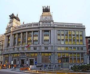 Banco Bilbao Vizcaya (building) - Image: Banco de Bilbao (c. Alcalá 16, Madrid) 13