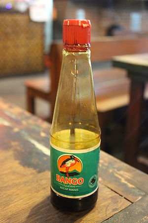 Sweet soy sauce - Bango brand, one of the popular kecap manis brands in Indonesia.