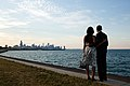 Barack and Michelle Obama looking at Chicago.jpg