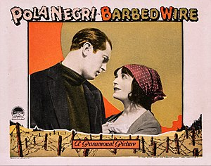 Barbed Wire (1927 film) - Lobby card