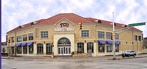 TCU's Barnes and Noble Bookstore.