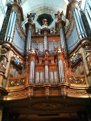 Saint-Omer - 19th century Cavaillé-Coll organ in the cathedral