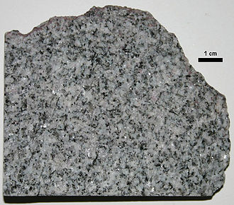 Barre (city), Vermont - Sample of the Barre Granite from the E. L. Smith Quarry of the Rock of Ages Stone Company, Graniteville, Vermont