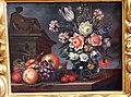 Bartolomeo ligozzi, fiori in vaso, frutta su tavolo e scultura, 1660-90 ca. 02.JPG