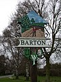 Barton Village Sign, east side - geograph.org.uk - 705439.jpg