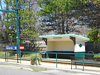 Bartram Avenue station - Contemporary image of the shed at the Bartram Avenue stop.
