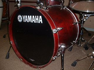 Bass drum Drum, produces a note of low definite or indefinite pitch