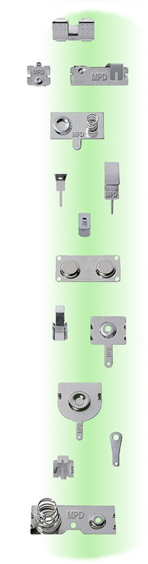 Battery terminal - Common battery contacts and terminals for smaller batteries