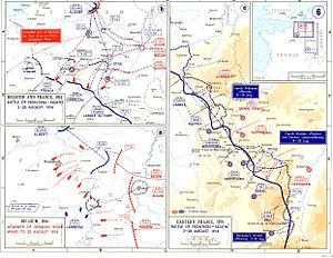 Battle of Lorraine - Image: Battle of Frontiers Map