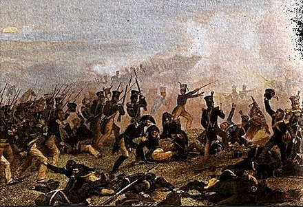 American infantry prepare to attack during the Battle of Lundy's Lane in July 1814 Battle of Lundys Lane.jpg
