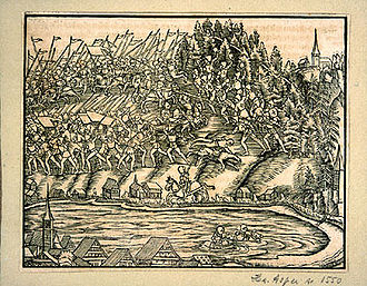 Canton of Schwyz - The Battle of Morgarten, the first battle of the new Confederation against the Habsburgs
