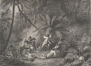 Battle of Ravine-à-Couleuvres - Depiction of the Battle of Ravine-à-Couleuvres